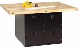 wb44v-fourstation-steel-workbench-w-8-locker-base-and-4-vises