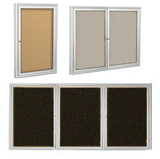 All Outdoor Enclosed Bulletin Board W Silver Frame By BestRite