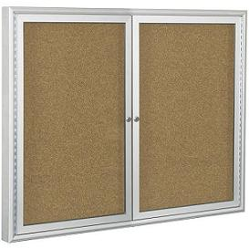 94pseo-outdoor-enclosed-bulletin-board-cabinet-w2-doors-60-w-x-36-h