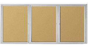 94psho-outdoor-enclosed-bulletin-board-cabinet-w3-doors-96-w-x-48-h