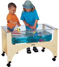 Example of Daycare Sensory Sand Water Table