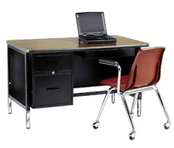 54l0-adjustable-teacher-desk--left-pedestal-desk-w-center-drawer-30-x-60