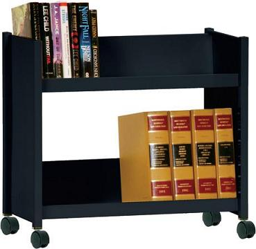 sr227-book-truck-with-2-slant-shelves