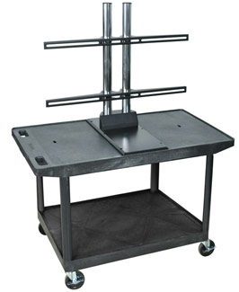 le27wtud-55h-black-plasmalcd-2-shelf-cart