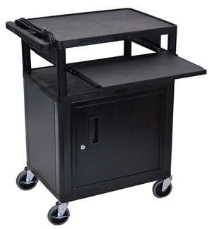 lp34ce-threeshelf-plastic-av-cart-w-cabinet-electric