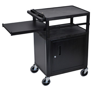 lp34cpe-threeshelf-plastic-av-cart-w-cabinet-electric-side-shelf