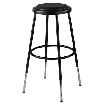 6424h-10-black-padded-steel-stool-adjustable-25-33-h