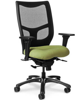 all yes series office chair with mesh back & memory foam seat