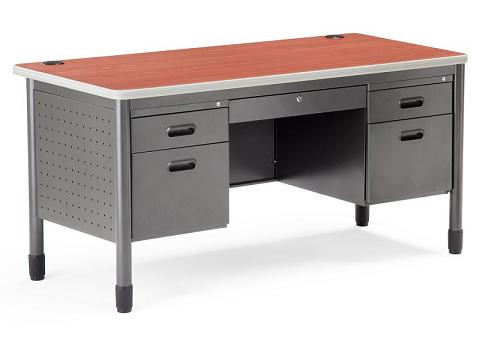 stock 31141 ofm 66360 double pedestal mesa teacher desk 30 x 60