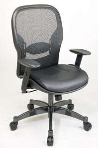 2400-professional-matrex-back-chair-with-leather-seat