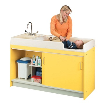 Tot Mate Infant Changing Table W Sink Left Hand