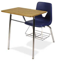 2400br-18h-navy-18x24-oak-top-chrome-frame-chair-desk-wbookrack