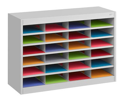 9211-24-compartment-steel-literature-organizer