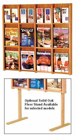 lm16-12-magazine-or-24-brochure-oak-and-acrylic-wall-rack