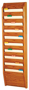 ch1410-10-pocket-oak-wall-chart-holder
