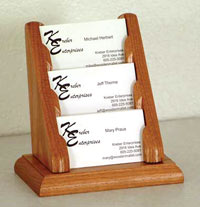 oak-business-card-racks-wooden-mallet
