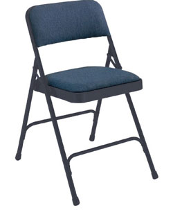2204-blue-fabric-blue-frame-18-gauge-steel-padded-folding-chair-with-double-hinge