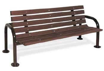 recycled-plastic-double-post-contour-outdoor-bench-by-ultraplay