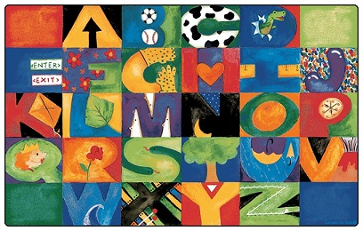 abc rug spots educational rugs alphabet classroom