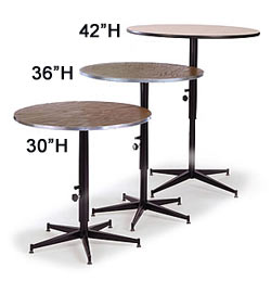 Tri Height Cafe Banquet Tables By Midwest