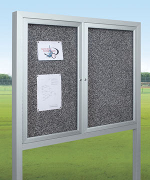 94haf-op-rt-all-weather-herald-standing-enclosed-bulletin-board-cabinet-5-w-x-4-h