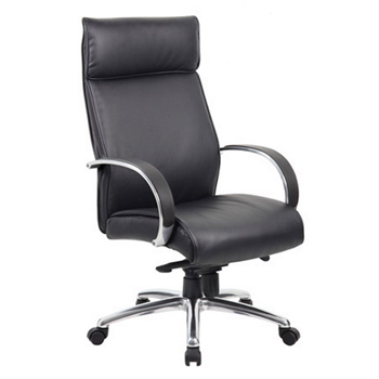 b7712a-contemporary-high-back-executive-chair-w-knee-tilt-aluminum-arms