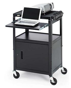 ca2642nse-adjustable-projector-cart-w-electrical-w-cabinet