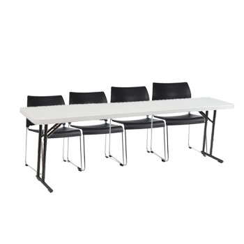 8810-3-bt1896-x-plastic-resin-seminar-folding-table-18-x-96-with-four-sled-base-stack-chairs