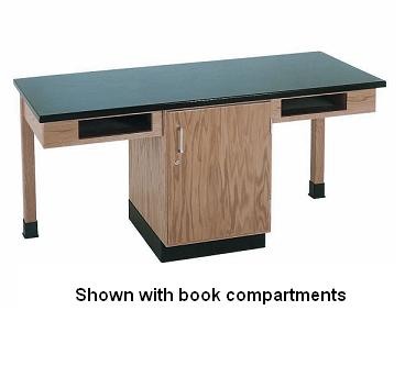 c2102k-twostudent-science-table-w-2-book-compartments-chemguard-top-door-only