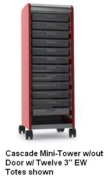 cascade-series-mobile-tote-tray-mini-tower-by-smith-system