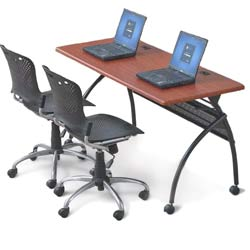 90209-package-deal--chi-flipper-seminar-table---training-chairs-60-x-24--light-cherry
