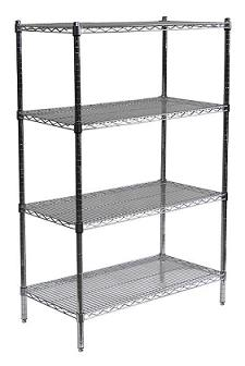 Chrome Wire Shelving Units By Sandusky Lee