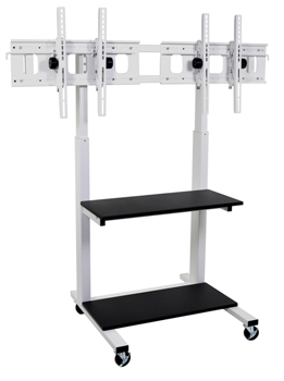 clcd-dual-crank-adjustable-dual-flat-panel-tv-cart
