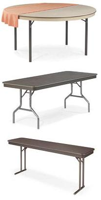 abs plastic coreagator folding table by virco