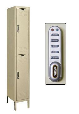uel1228-2-digitech-double-tier-1-wide-lockers-w-electronic-lock-unassembled-12-w-x-12-d-x-36-h