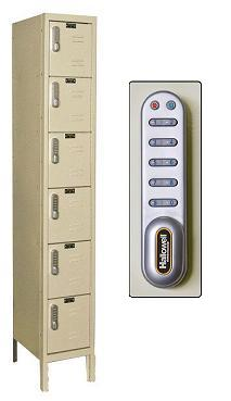 uel1288-6a-digitech-six-tier-1-wide-lockers-w-electronic-lock-assembled-12-w-x-18-d-x-12-h
