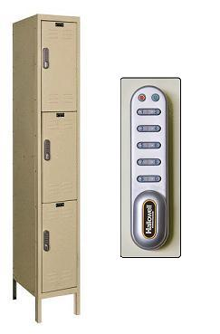 digitech-triple-tier-1-wide-lockers-w-electronic-lock-by-hallowell