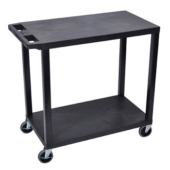 ec22-b-e-series-flat-shelf-cart-standard-w-2-shelves-black