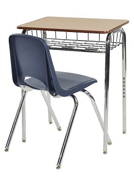 Classroom Packages  Wire Book Basket Desk U0026 Chair Sets By ECR4Kids
