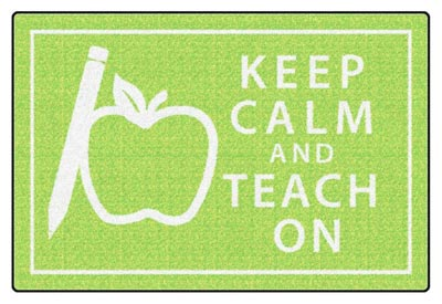 fe352-22a-keep-calm-and-teach-on-green-4-x-6