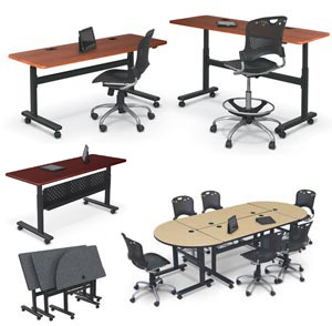 All Adjustable Height Flipper Folding Tables By Balt Options - Adjustable height conference table