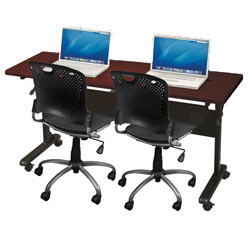 90203-two-task-chairs-w-one-flipper-seminar-table-70-x-24--teak