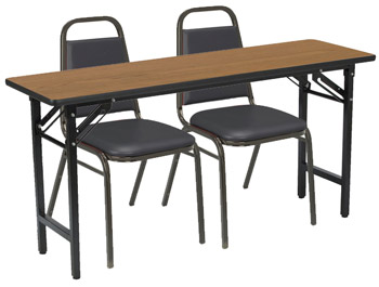 folding-training-table-with-two-padded-stack-chairs-by-kfi