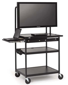 fp42mul-e5bk-flat-panel-cart-w-pull-out-shelf-electrical-strip-42-monitor