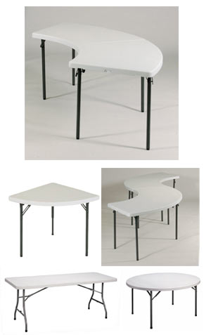 Plastic Resin Banquet Food Service Folding Tables By Correll