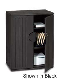 92561-36wx22dx46h-black-resinite-storage-cabinet-with-locking-doors-2-fixed-shelves