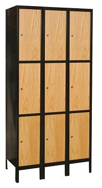 uw3288-3a-mew-metal-wood-hybrid-triple-tier-3-wide-locker-assembled-12-w-x-18-d-x-24-h