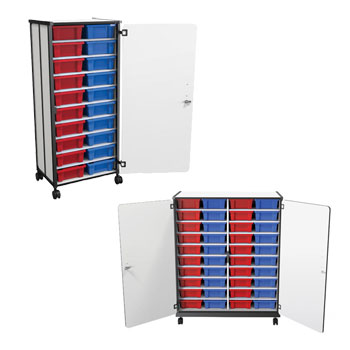 Mobile Tub Storage Carts by Balt  sc 1 st  Worthington Direct & All Mobile Tub Storage Carts Options | Storage Cabinets And Shelving ...