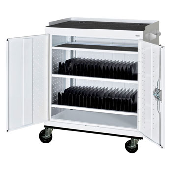 Mobile Tablet Storage Cart by Sandusky Lee  sc 1 st  Worthington Direct : computer storage cart  - Aquiesqueretaro.Com