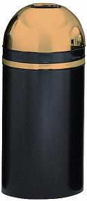 415dt-11-monarch-series-open-top-receptacle-black-w-brass-accents